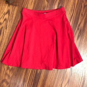 EUC Red Forever 21 skater skirt